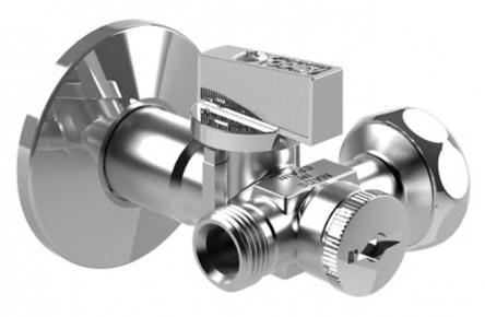 Arco Кран приборный DUAL 1/2Н х 3/4В х 3/8Н с фильтром