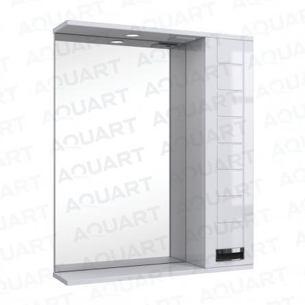 Aquart MARSEL Зеркало 80 (Белое), с подсветкой