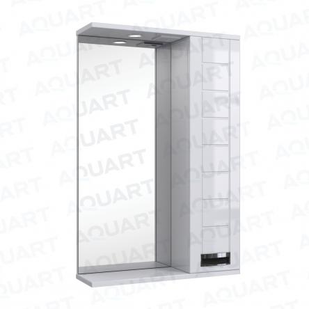 Aquart MARSEL Зеркало 55 (Белое), с подсветкой