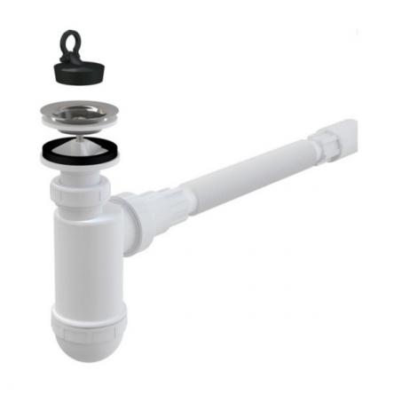Сифон для умывальника d40 с гибким соединением (KollerPool) - A41+A710