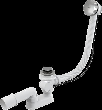 Сифон для ванны автомат комплект металл 100cm (KollerPool) - A55K-100