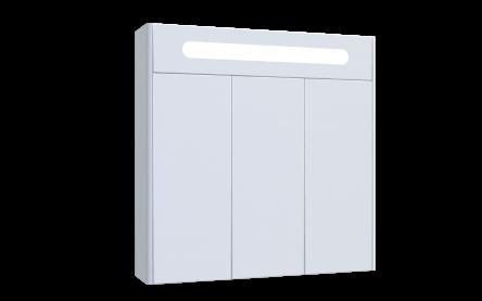 Aquart SCARLET Зеркало 80 (Белое), со шкафчиком и подсветкой