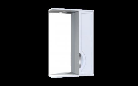 Aquart PLAZA Зеркало 55 (Белое), с подсветкой