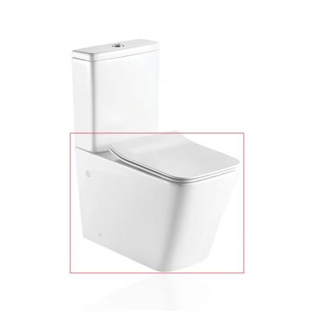 Koller Pool KVADRO унитаз напольный с сидением Soft-close без бачка - KR-0675-RC-C