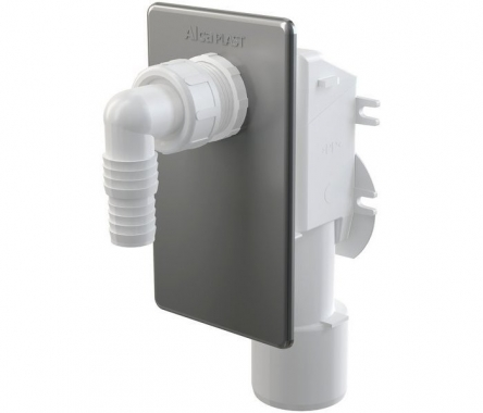 Alcaplast Сифон для стиральной машинки под штукатурку хромированный APS3