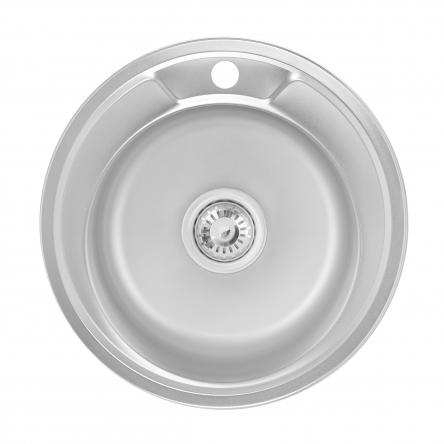 Кухонна мийка Lidz 490-A Satin 0,6 мм (LIDZ490A06SAT160)