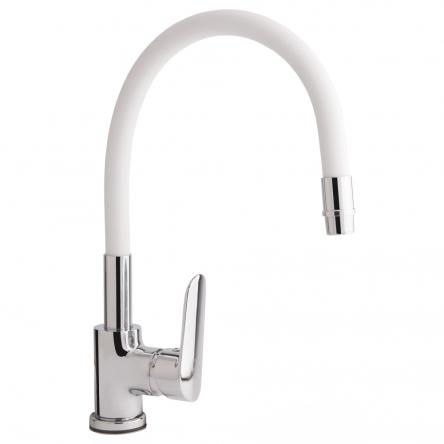 Змішувач для кухні з рефлекторним виливом Qtap Linea CRW 007F