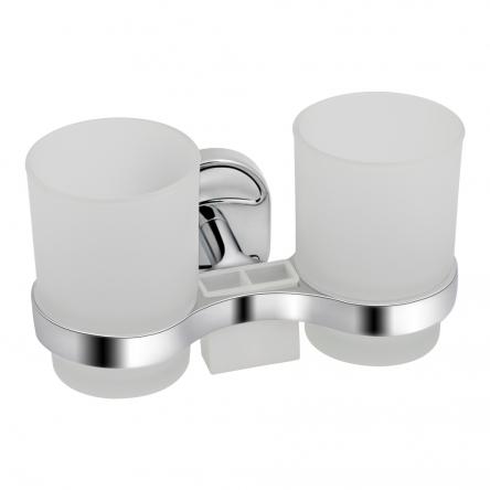 Склянка подвійна Lidz (CRG)-114.04.02 з тримачем зубних щіток