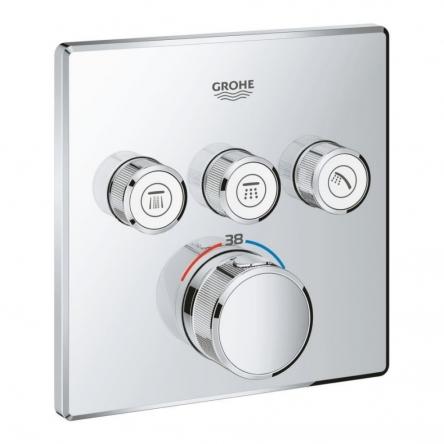Grohe Grohtherm SmartControl 29126000 Термостат прихованого монтажу із 3 кнопками керування - 29126000