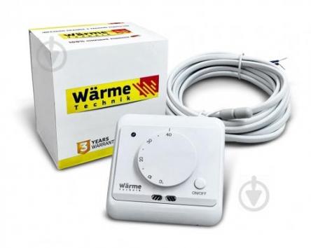 Warme Technik М містить датчик температури повітря (вбудований) і поставляється з зовнішнім датчиком (монтуется в підлогу)