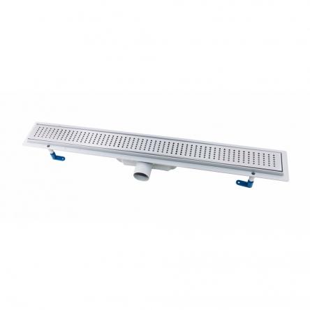 Трап лінійний Qtap Dry FB304-800 з нержавіючою решіткою 800х73