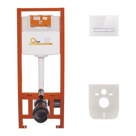Набір інсталяція 4 в 1 Qtap Nest ST з лінійною панеллю змиву QT0133M425V1105GW