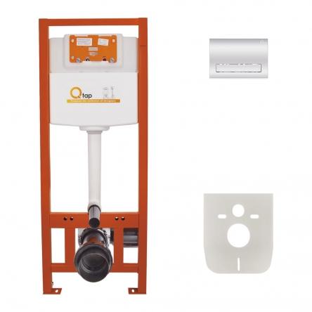Набір інсталяція 4 в 1 Qtap Nest ST з лінійною панеллю змиву QT0133M425M08381CRM