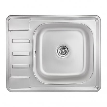 Кухонна мийка Lidz 6350 Micro Decor 0,8 мм (LIDZ6350MDEC)