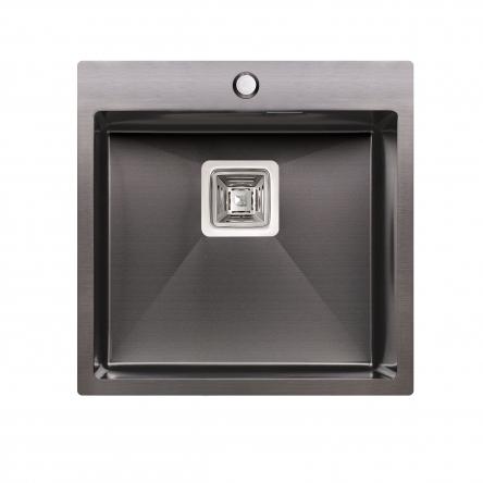 Кухонна мийка Qtap DK5050BL Black 2.7/1.0 мм (QTDK5050BLPVD2710)