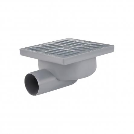 Трап Lidz (WHI) 60 07 T003 01 горизонтальний з пластиковою решіткою 150х150