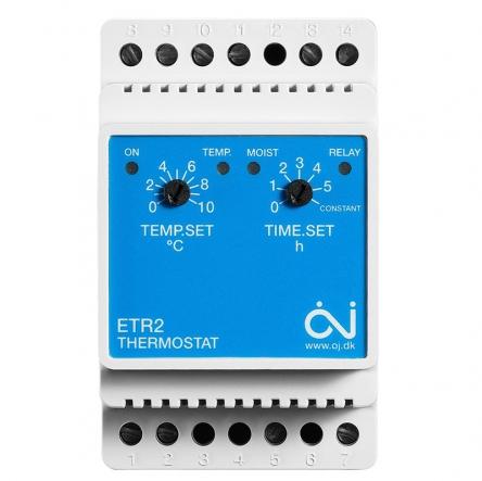 Oj Electronics Терморегулятор ETR2-1550 для систем антиобледеніння та сніготанення на невеликих об'єктах з можливістю підключення 2-х датчиків
