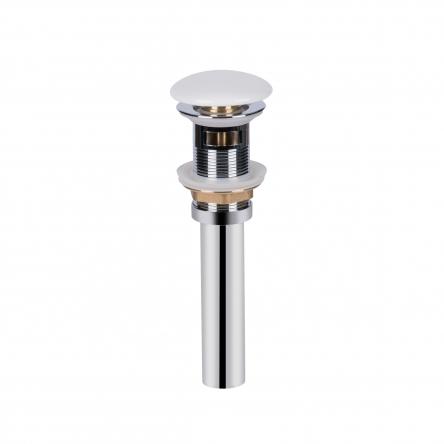Донний клапан для раковини Qtap PU02O WHITE з переливом