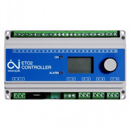Oj Electronics Терморегулятор ETO2-4550 для систем антиобледеніння та сніготанення на об'єктах з можливістю управлення 2-ма зонами