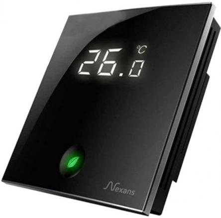 Nexans Термостат Millitemp 2 BREATH містить датчик температури повітря (вбудований) і поставляється з зовнішнім датчиком (монтуется в підлогу)