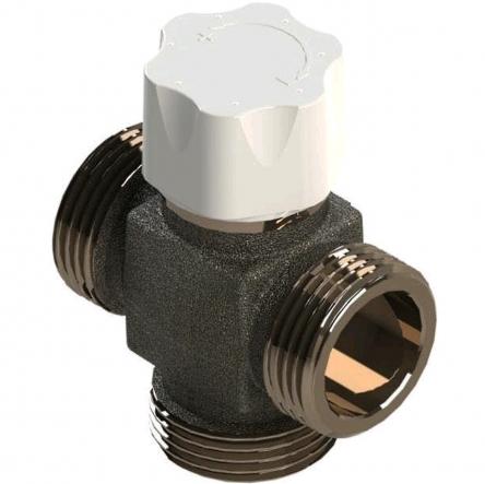 """Luxor Клапан 3-ходовой термостатический смесительный, 1"""" для теплого пола"""