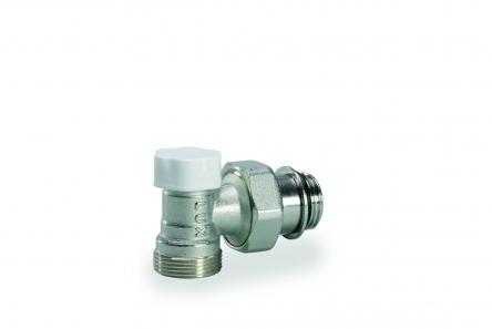 """Luxor Кран радиаторный отсекающий угловой 1/2"""" o-ring (с уплотнением) Easy DS 139"""
