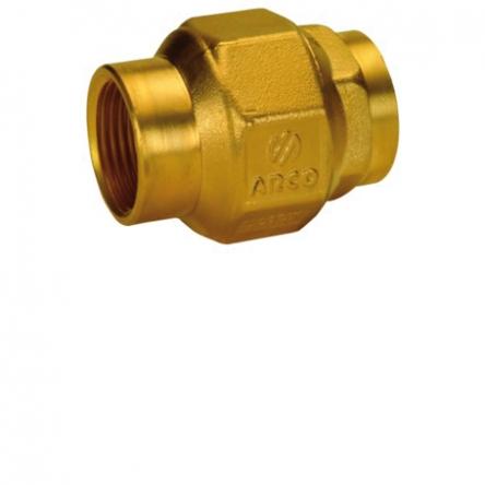 """Arco Обратный клапан латунь 1"""" 1/4 ВВ STOP (191206)"""