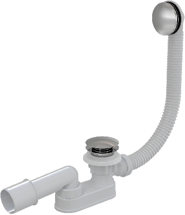Alcaplast Сифон для ванны click-clack, металлический (A507KM)