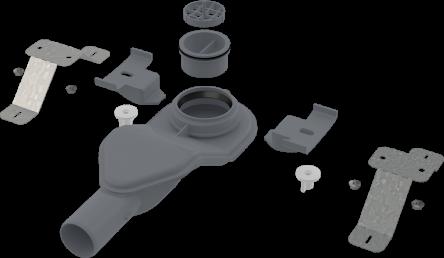 Alcaplast Экстра низкий сифон в комплекте с регулируемыми ногами (APZ-S6)