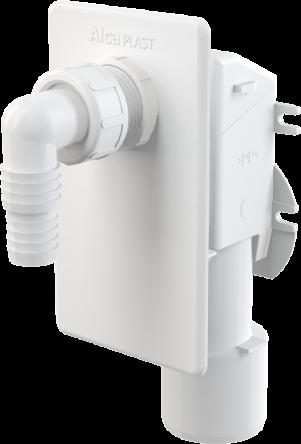 Alcaplast Сифон для стиральной машинки под штукатурку белый (APS4)