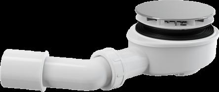 Alcaplast Сифон для душевого поддона заниженный, хромированный (A491CR)