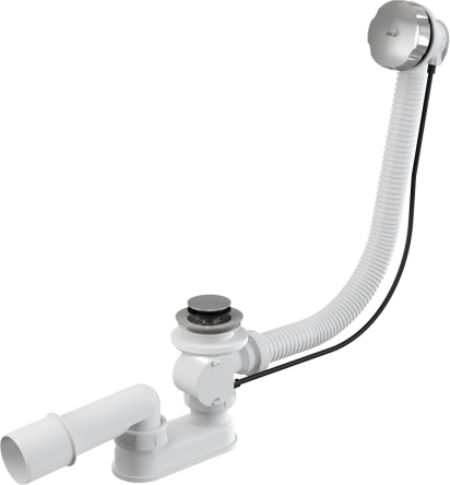 Alcaplast Сифон для ванны автомат комплект металл 57cm (A55K)