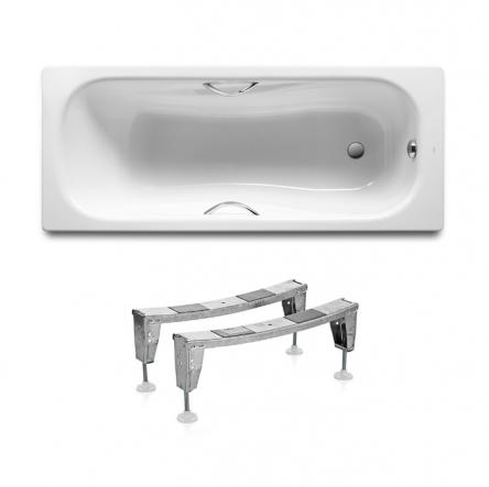 Roca Комплект: PRINCESS ванна 170*75см прямоугольная, с ручками +  ножки - A220270001+A291021000