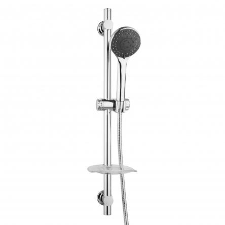 RJ Штанга душевая L-68 см, мыльница, душ ручной 3 режима, шланг, блистер : RJ3111