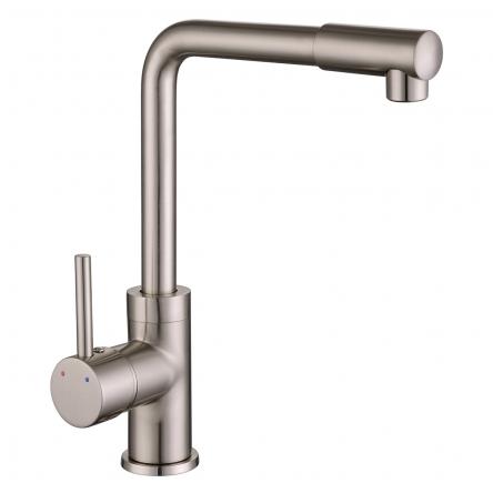 Imprese LOTTA смеситель для кухни, высокий нос, сатин, 35 мм - 55400