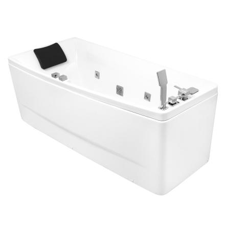 VOLLE Ванна 170*75*63см, асимметричная, гидромассажная, левая - 12-88-102/L