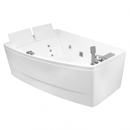 VOLLE Ванна 170*120*63см, асимметричная, гидромассажная, левая - 12-88-100/L