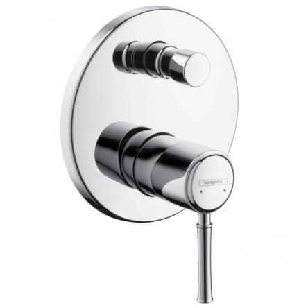 Hansgrohe Talis Classic Сместитель для ванны, однорычажный, врезной (цв gold optic) - 14145000 (polished gold optic)