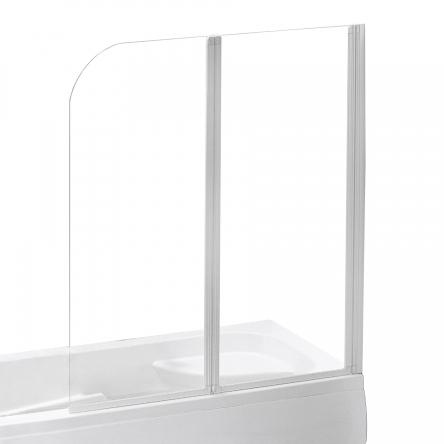 EGER Шторка на ванну 120*138см, профиль белый - 599-121W