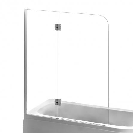 EGER Шторка на ванну 120*150см, левая, профиль хром - 599-120CH/L
