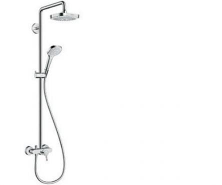 Hansgrohe Croma Select E 180 2jet Showerpipe Душевая система, цв белый хром - 27258400