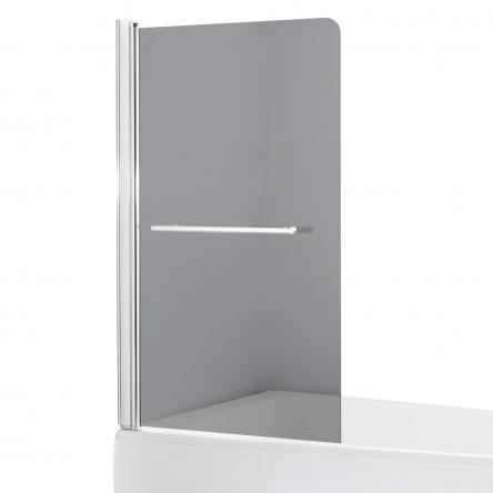 EGER Шторка на ванну 80*150см, стекло тонированное, левая - 599-02L grey