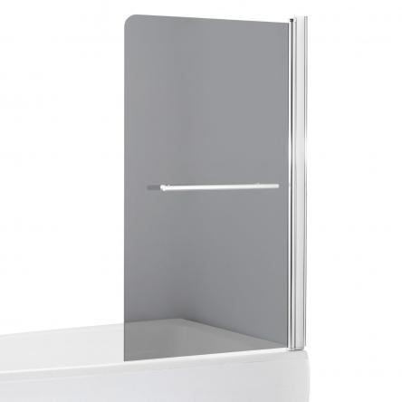 EGER Шторка на ванну 80*150см, стекло тонированное, правая - 599-02R grey