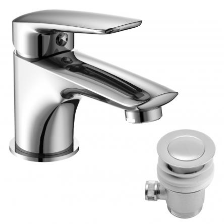 Imprese PRAHA new смеситель для раковины с донным клапаном, хром, 35 мм - 05030PP