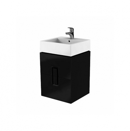 Kolo TWINS шкафчик под умывальник 50 см с двумя ящиками, черный матовый - 89491000