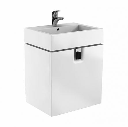 Kolo TWINS шкафчик под умывальник 60см, с одним ящиком, белый глянец (пол.) - 89498000