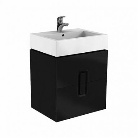 Kolo TWINS шкафчик под умывальник 60 см с двумя ящиками, черный матовый - 89494000