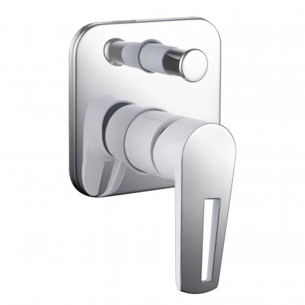 Imprese BRECLAV смеситель скрытого монтажа для ванны, хром/белый, 35мм - VR-10245WZ