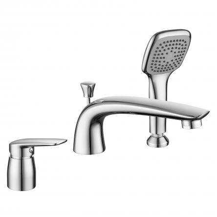 Imprese PRAHA new смеситель для ванны, врезной, на три отверстия,  хром, 35 мм - 85030 new