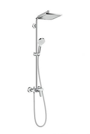Hansgrohe Crometta E 240 1jet Showerpipe Душевая система с однорычажным смесителем, хром - 27284000